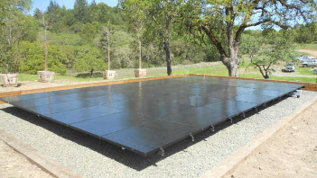 Large solar panel on the ground