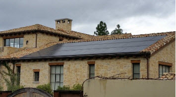Low roof solar panel