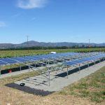 solar panels array