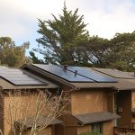 New solar panels brown house 2 story