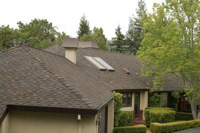New roof shingles