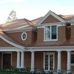 wood shingles on house