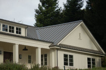 Metal roofing on veranda