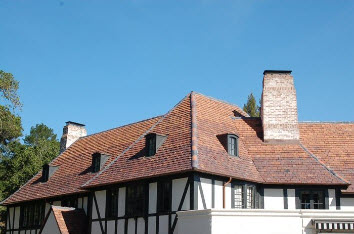 Tile roofing installed